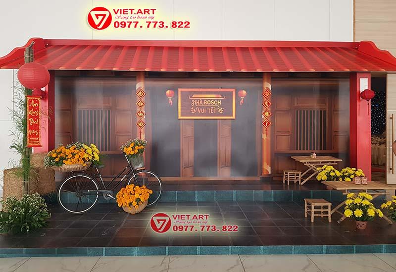 Thiết kế thi công trang trí tiểu cảnh tết Hà Nội